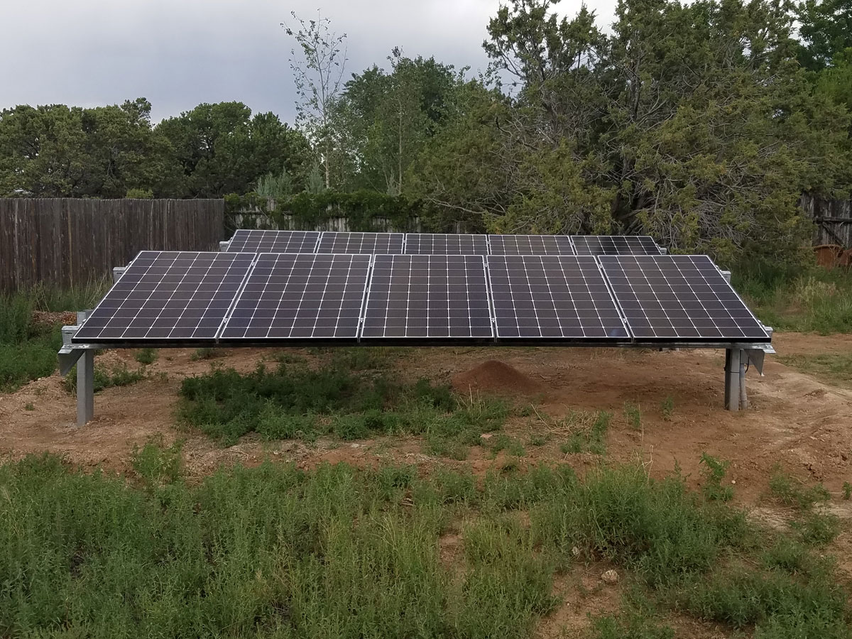 Santa Fe, NM: A 3 kW system with a Patriot solar ground mount rack to create a low-profile solution