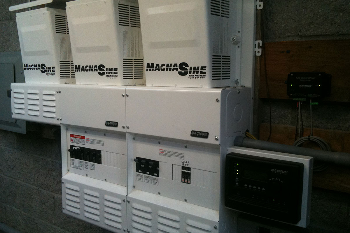 Honeydew, CA: A 12 kW power center for a micro grid powering a farm community.